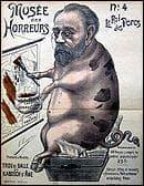 Quelle homme de lettre est représenté sur cette caricature ordurière?