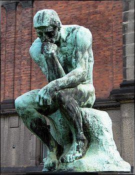 Qui représente le penseur de Rodin ?