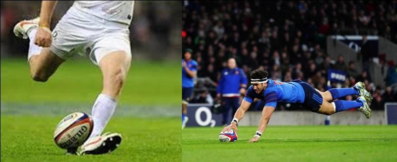 Sports : Au rugby, il y a trois possibilités de marquer des points, la pénalité (3 points), le drop-goal (3 points) et l'essai avec son éventuelle transformation (5 + 2 points).Est-ce qu'il y a eu d'autres façons de marquer des points ?Dans les premiers temps, combien rapportaient l'essai et sa transformation ?