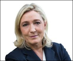 Quel est le nom du parti politique dont Marine Le Pen est la présidente ?