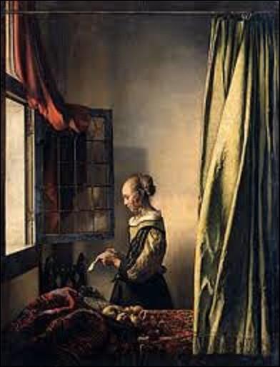 """Vers 1657, est peinte cette huile sur toile intitulée """"La Liseuse à la fenêtre"""". Actuellement exposée au musée Gemäldegalerie Alte Meister de Dresde, quel peintre de l'âge d'or de la peinture néerlandaise a réalisé ce tableau ?"""