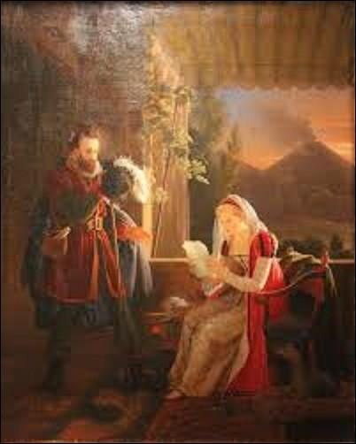 """Peintre d'histoire et portraitiste, né le 14 juillet 1775 à Versailles et mort à Paris le 2 mars 1847, il réalise, en 1812, cette peinture à l'huile nommée """"Le Tasse chez sa sœur Conelia à Sorrente"""", de qui s'agit-il ?"""