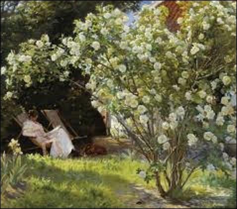 """Impressionniste norvégien, né le 23 juillet 1851 à Stavanger, il peint ce tableau intitulé """"Roses"""", en 1893. Actuellement exposé au musée de Skagen, dans la ville du même nom qui se situe au Danemark, pourriez-vous me citer le nom de cet artiste ?"""