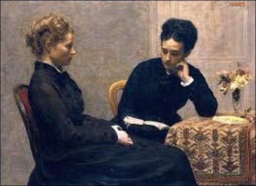 """Je ne vais pas innover, le nom de ce tableau est également intitulé """"La Lecture"""". Peint en 1877, il a été acheté en 1901 par le musée des beaux-arts de Lyon où il est toujours conservé. Quel peintre de mouvement réalisme a peint cette toile ?"""