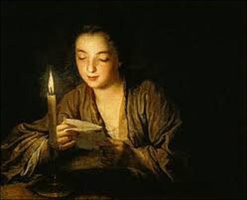 """Mesurant 0,64 m sur 0,79 m, """"Jeune Fille lisant une lettre à la bougie"""" est l'oeuvre d'un peintre français du mouvement classicisme (1651-1717) qui se nomme :"""
