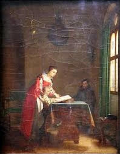 """Conservée au château de Pau, """"L'Éducation d'Henri IV"""" est une peinture à l'huile peinte en 1817. Pourriez-vous me citer le nom de ce peintre de genre et troubadour qui a réalisé ce tableau ?"""