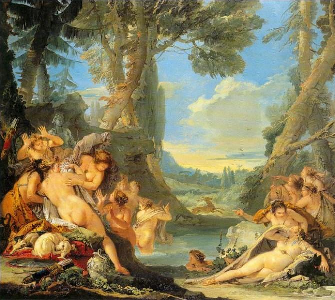 """""""Le bain de Diane"""" (1743/44)Ce sujet est abordé à au moins trois reprises par celui considéré par certains comme """"le plus grand peintre décoratif du XVIIIe siècle"""". La version de la collection E.G. Bührle est singulière : Actéon n'est pas montré au moment de sa métamorphose, mais de sa découverte par Diane et ses nymphes. Qui en est l'auteur ?"""