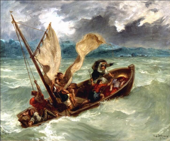 """""""Le Christ sur le lac Génézareth"""" (1853)Chef de file de l'école romantique, cet artiste est admiré pour ses libertés prises avec les modèles picturaux traditionnels. La voile gonflée par le vent attire le regard vers le ciel chargé de nuages. En collectionnant les toiles d'un précurseur, E.G. Bührle inscrit l'impressionnisme français dans l'histoire de l'art du XIXe siècle. De qui s'agit-il ?"""