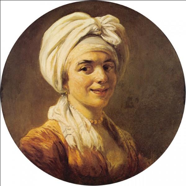 """""""Jeune femme au turban"""" (vers 1774)A son acquisition, ce tableau est considéré être une œuvre d'un peintre connu, avec la possibilité de voir dans le modèle sa femme Marie-Anne. Cette identification n'est pas nécessairement mise en doute par l'attribution du tableau, en 2013, à François-André Vincent, compagnon d'études à Rome du premier nommé, qui est ..."""
