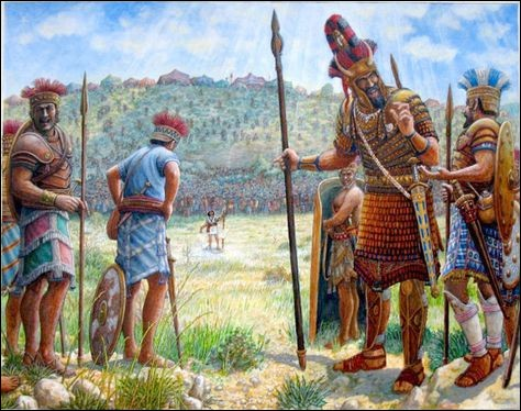 Ce prétentieux soldat philistin se fera fracasser le crâne par David, futur roi d'Israël. Qui est-il ?
