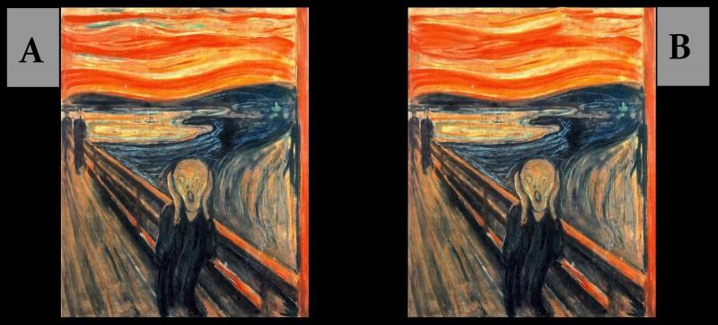 Parmi, ces deux tableaux, quel est le vrai ?