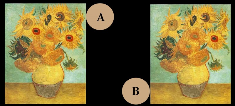 Parmi, ces deux tableaux, quel est le faux ?