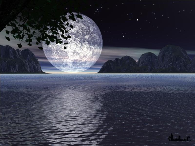 Dans le phénomène des marées, que fait la Lune ?