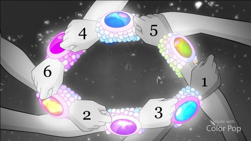 Remettre les noms des Winx avec leurs numéros (couleurs de leurs bracelets tynix).