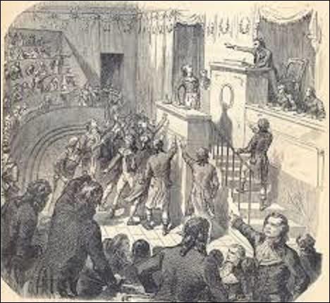 """8 thermidor an II (26 juillet 1794), une série d'événements se déroula et vit la chute de Robespierre et des siens le lendemain, épisode que l'on appelle le 9 thermidor et qui marqua la fin de la Terreur. Robespierre montant à la tribune hurla pour reprendre la main, mais s'étrangla. Un député en profita pour lui lancer : """"C'est le sang de Danton qui t'étouffe"""". Qui prononça cette phrase ?"""