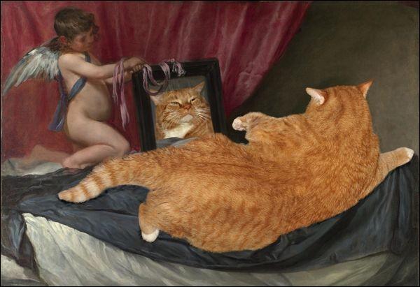 Quel peintre est ici parodié ?