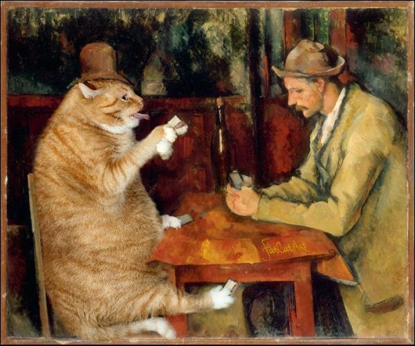 Quand Minet joue aux cartes, chez qui s'incruste-t-il ?