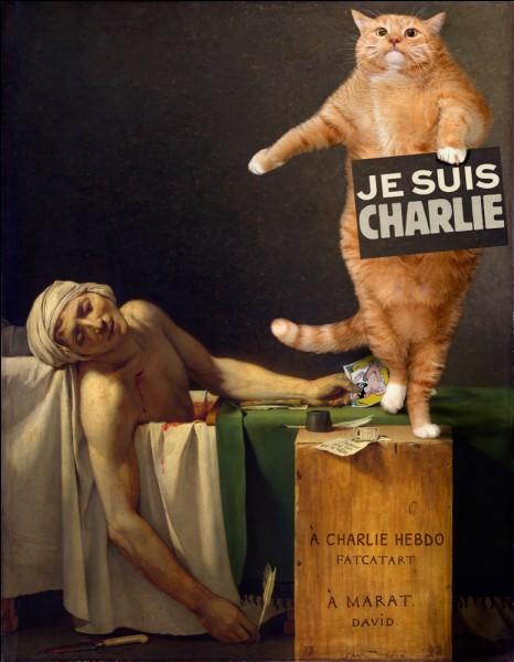 De qui est cette toile où s'incruste ce chat ?