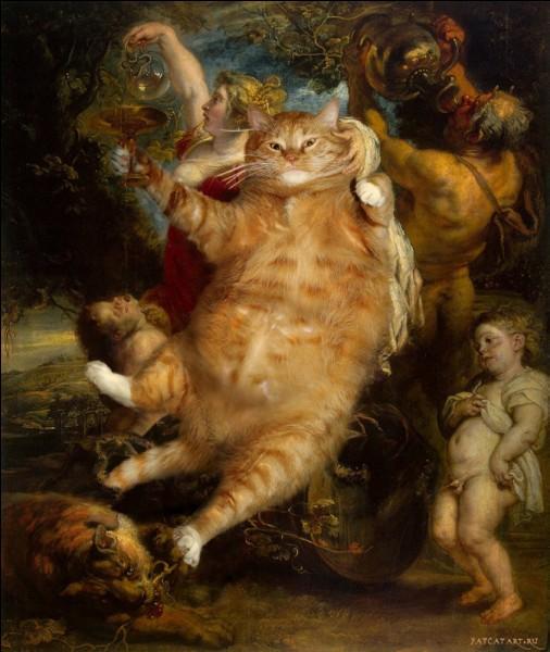 Ce chat remplace l'énorme Bacchus de :