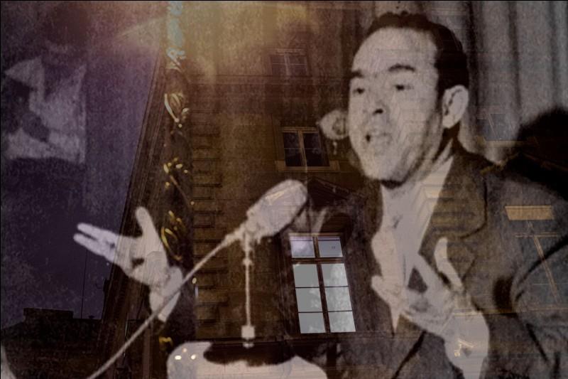 Le 29 octobre 1965, cet homme politique marocain se rend à la brasserie Lipp, à Paris, il est enlevé en cours de route, on ne le retrouvera jamais !