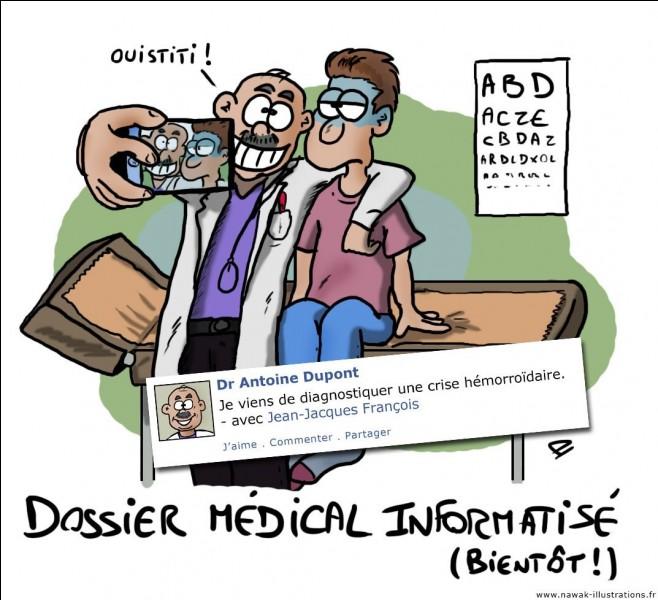 Le médecin des urgences demande au patient : vous avez déjà été opéré ?