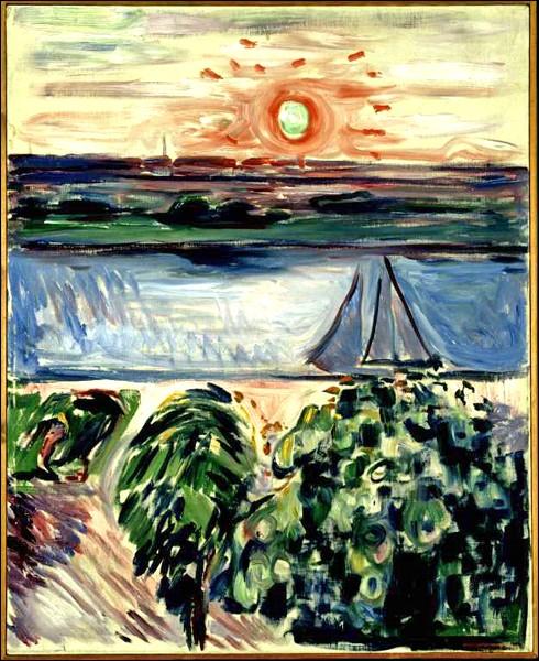 """""""Canal au coucher du soleil"""" (1908)"""