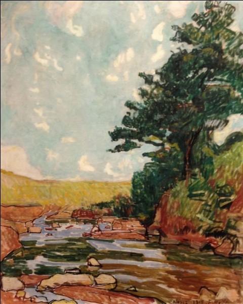 """""""Paysage près de Néris"""" (1915)"""