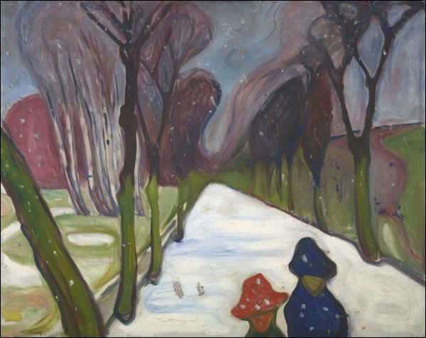 """""""Neige fraîche sur l'avenue"""" (1906)"""