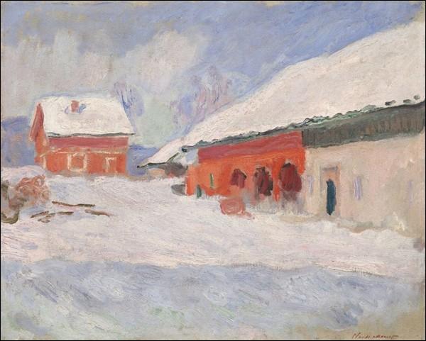 """""""Norvège, les maisons rouges à Björnegaard"""" (1895)"""