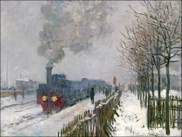 """Le train dans la neige, la locomotive"" (1875)"