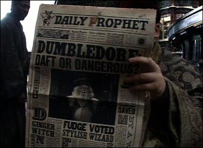 Comment s'appelle le journal des sorciers ?