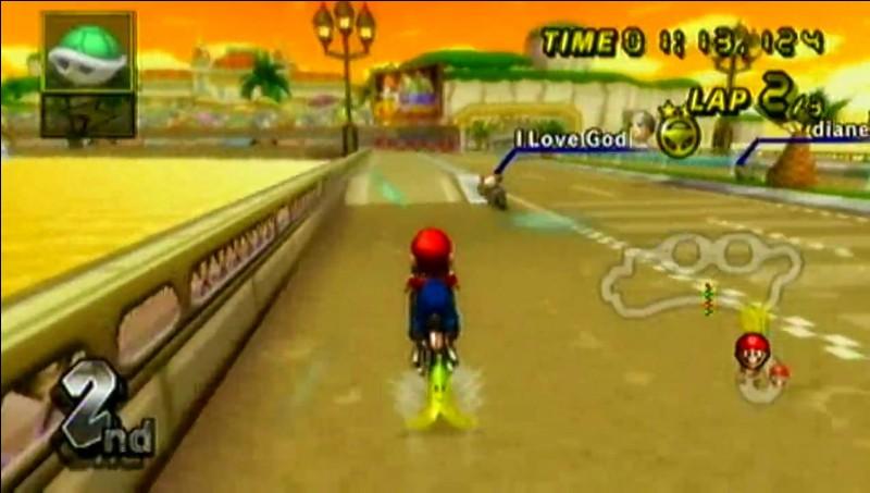Dans le circuit Daisy, en sortant du tunnel, qu'y a-t-il de marqué sur le panneau représentant une carapace ?