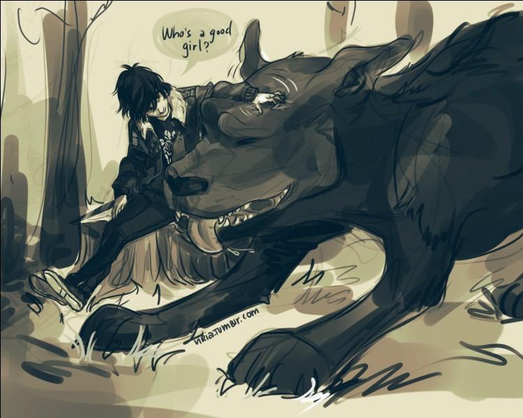 Comment s'appelle le chien des Enfers domestique de Percy ?