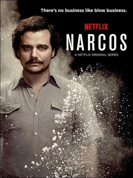 Quelle série parle d'un trafiquant de drogue d'Amérique latine ?