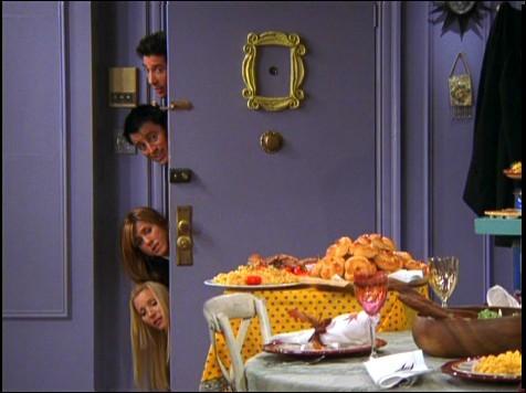 Quel est le numéro de la porte de Monica et Rachel ?