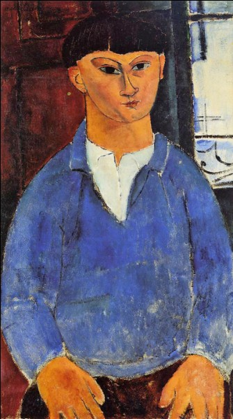 "Amedeo Modigliani ""Portrait de ..."" (1916), artiste peintre."
