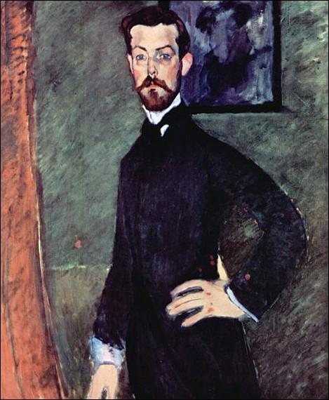 """Amedeo Modigliani """"Portrait du Dr. ..."""" (1909), premier mécène de l'artiste."""