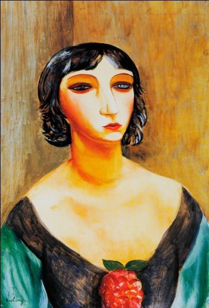 """Moïse Kisling """"Portrait de ..."""" (1920), artiste peintre."""