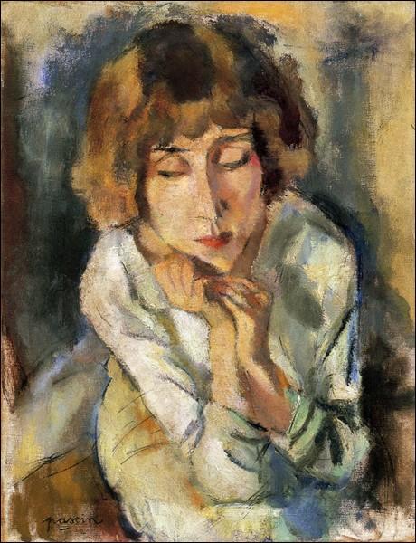 """""""Portrait d'Hermine David"""" (1914-19), épouse de l'artiste."""