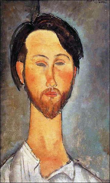 """Amedeo Modigliani """"Portrait ..."""" (1918), marchand d'art exclusif de l'artiste."""
