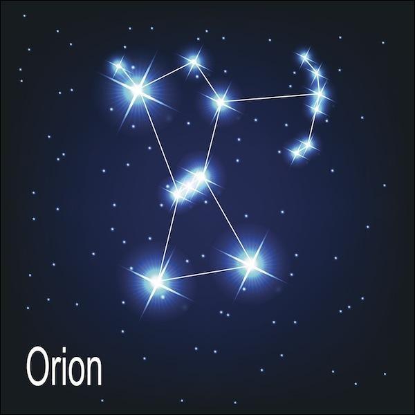 """O - La constellation """"d'Orion"""" est aussi appelée Le Chasseur."""