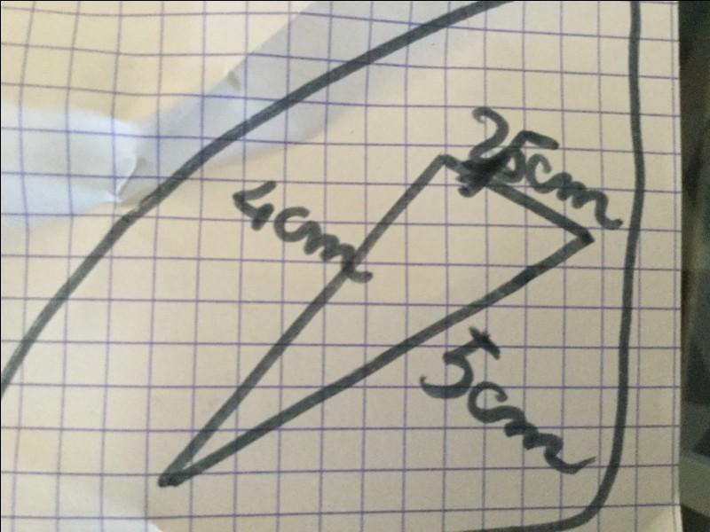 Quel est le nom de ce triangle ?