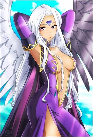 Quel est le nom de cette déesse et de quel manga provient-elle ?