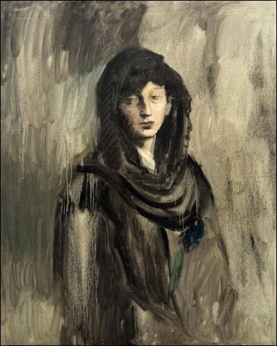 """Pablo Picasso """"... à la mantille noire"""" (1905-06). Première compagne 1904-12."""