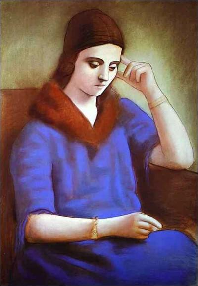 """Pablo Picasso """"Portrait de ... Picasso"""" (1922-23). Ballerina. Épouse 1918-55, mère de Paulo (1921), séparée (1935)."""