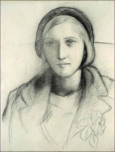 """Pablo Picasso """"Esquisse de ..."""" (1927). Compagne, mère de Maya (1935)."""