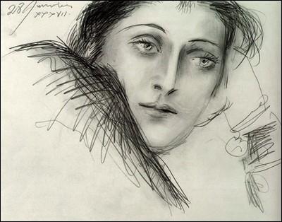 """Pablo Picasso """"Esquisse de ..."""" (1937). Photographe et artiste peintre."""