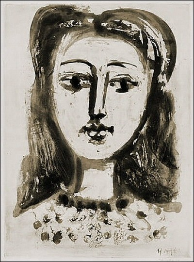 """Pablo Picasso """"..."""". Artiste peintre et écrivaine, auteure du bestseller """"Vivre avec Picasso"""" (1964). Compagne, mère de Claude (1947) et de Paloma (1949)."""