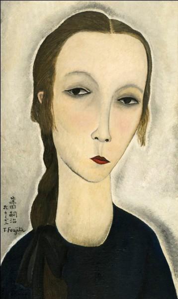 """Tsuguharu Foujita """"Portrait de jeune femme (...)"""" (1918). Marchande d'art issue de la noblesse polonaise. Modèle."""