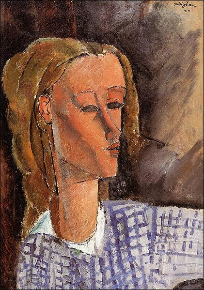 "Amedeo Modigliani ""Portrait de ..."" (1916). Journaliste anglaise. Compagne."